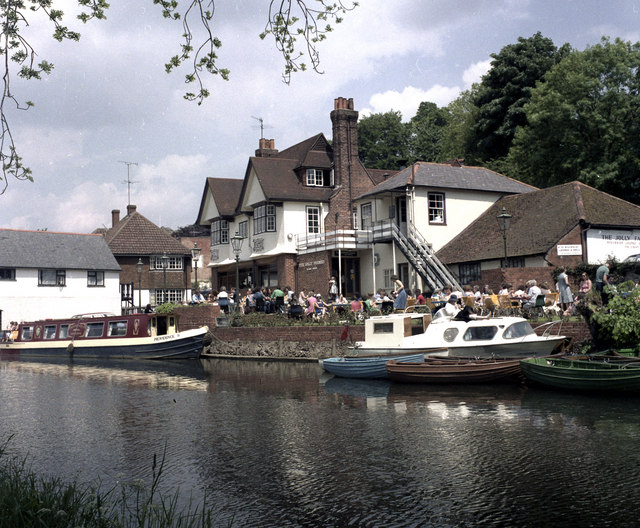 The Jolly Farmers, River Wey, Guildford, Surrey
