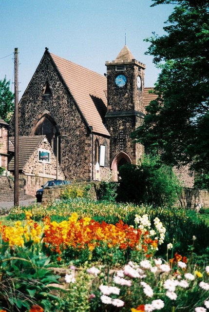 Whiston: church and flowers