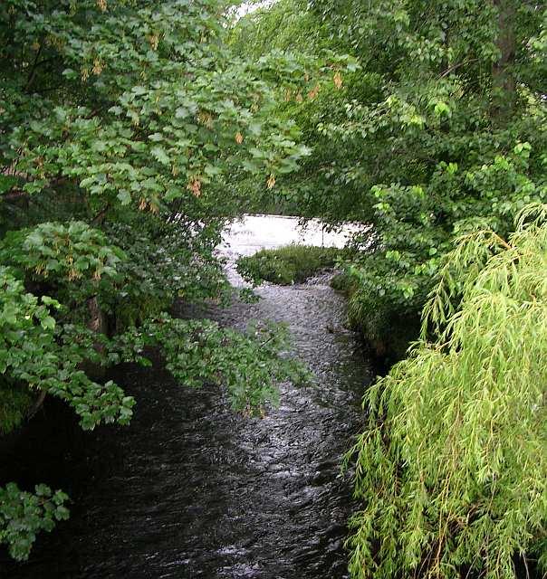River Calder & Weir in distance - from St George's Bridge