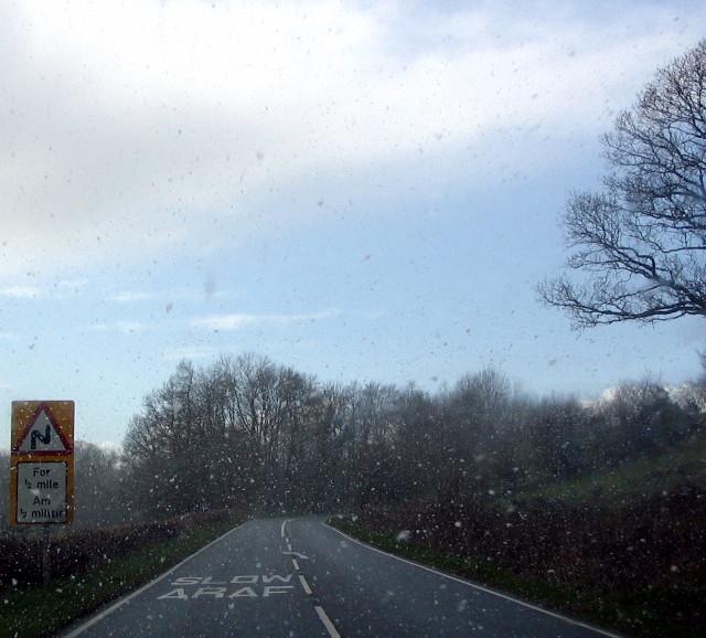 A40 (snowy) Road Scene