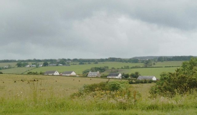 Houses on Benston Road, south of Cumnock