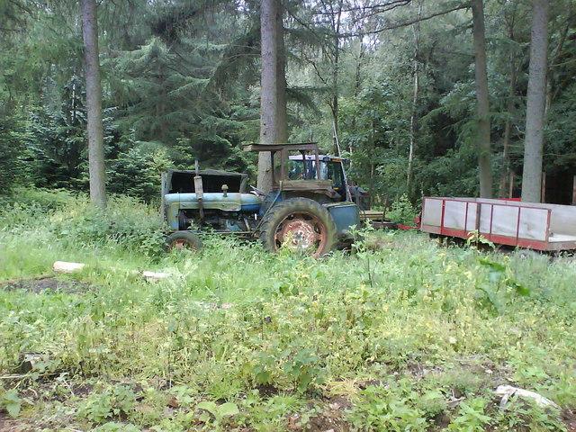 Forestry Vehicles nr Lead Wath Wood Yard