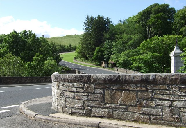 Berriedale bridge and war memorial