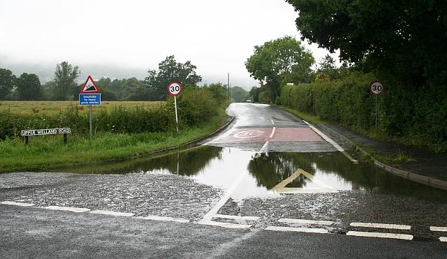 Flash Flooding - Bottom of Upper Welland Road