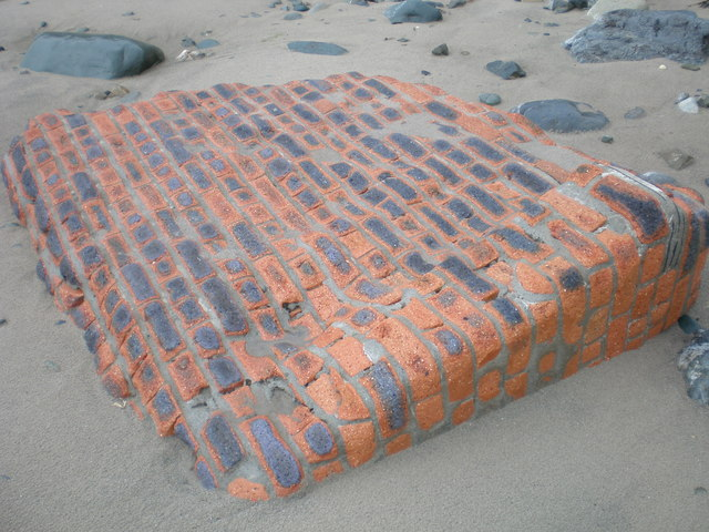 Sea-worn brickwork.