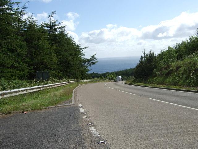 Start of descent of Berriedale Braes