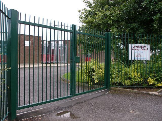 Daunting railings at Crooksbarn School