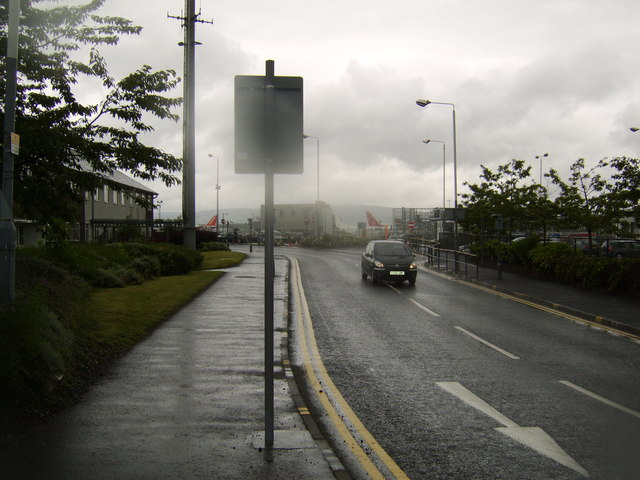Road at Glasgow Airport