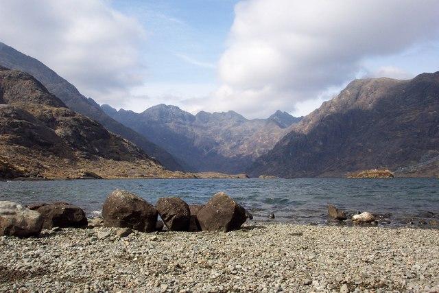 Boulders next to Loch Coruisk
