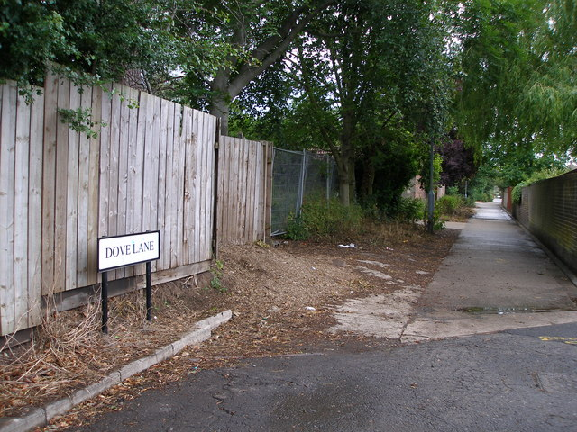 The newly designated Dove Lane