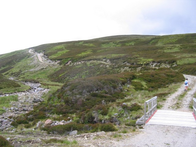 4 wheel drive track beside Allt Mor
