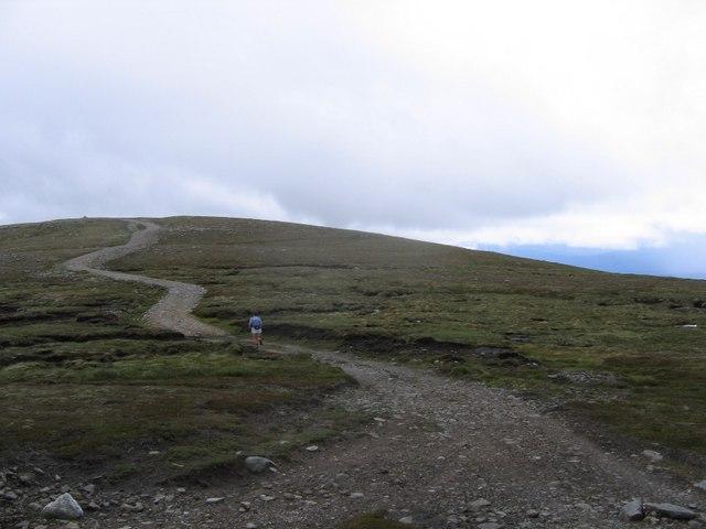 Road up Beinn Bhreac