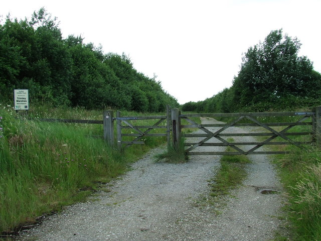 Entrance To Trimley Marshes Nature Reserve