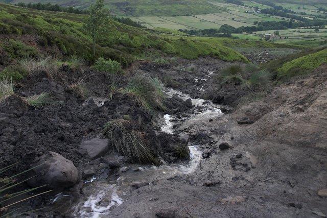 Landslip on Westerdale Moor