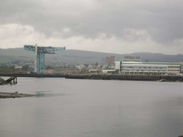 Clydebank from across the Clyde