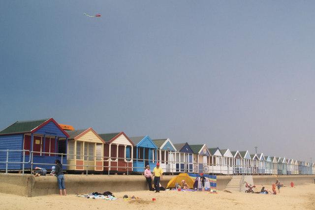 Beach huts Southwold.
