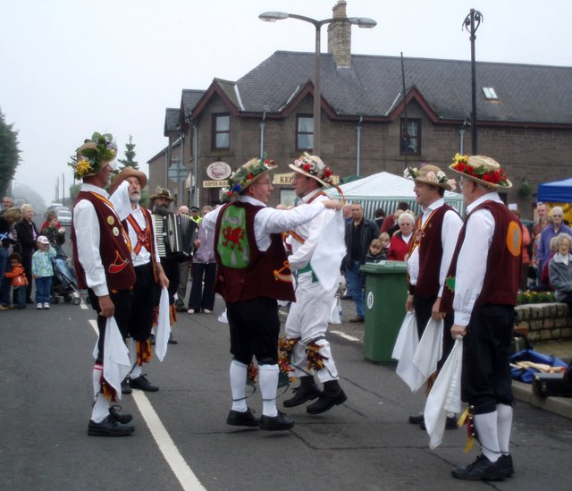 Morris dancers in the mist!