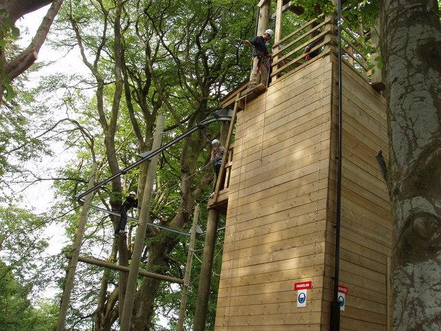 High Ropes. Urdd Centre Glanllyn