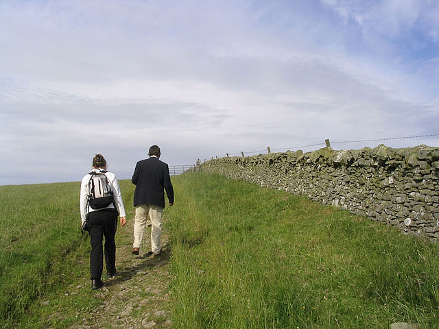 Walkers on the Southern Upland Way