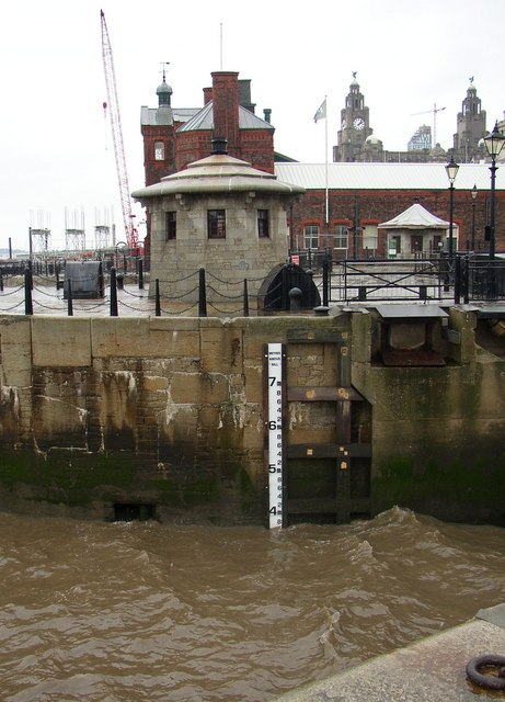 Level indicator, Albert Dock, Liverpool