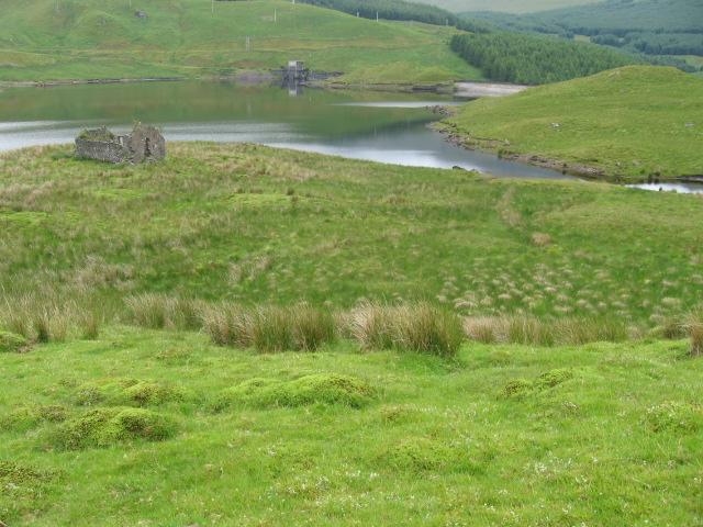 Shira ruin and Lochan Sron Mor