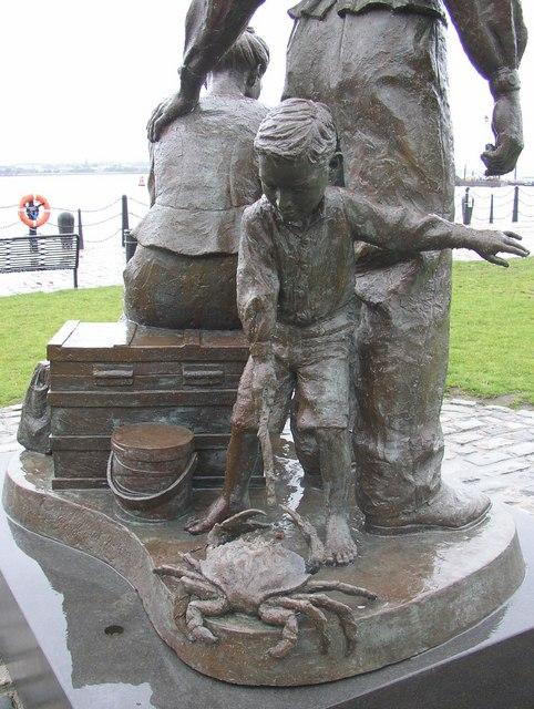 Rear of 'The Emigrants' statue, Albert Dock, Liverpool