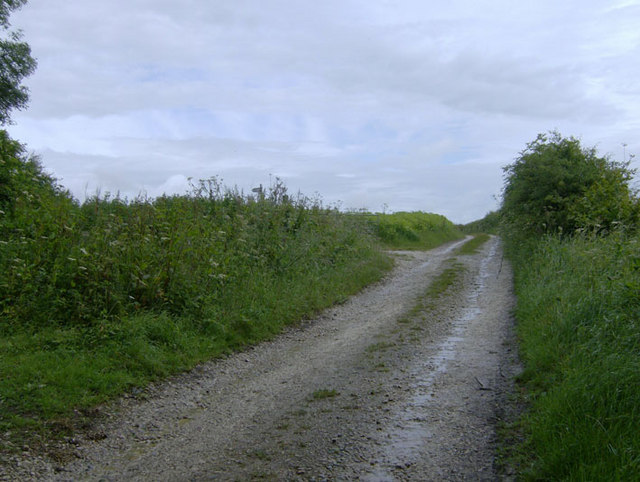 Concessionary track leading north from Langton Hill