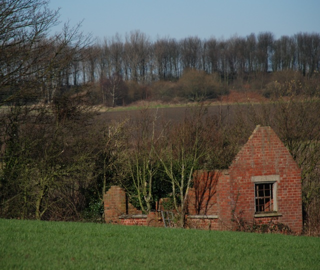 Derelict Brick Building, near Lutley