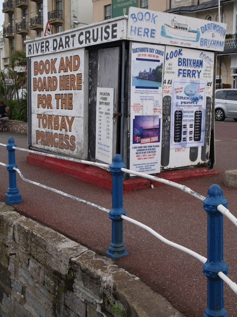 Cruise booking booth, Torquay