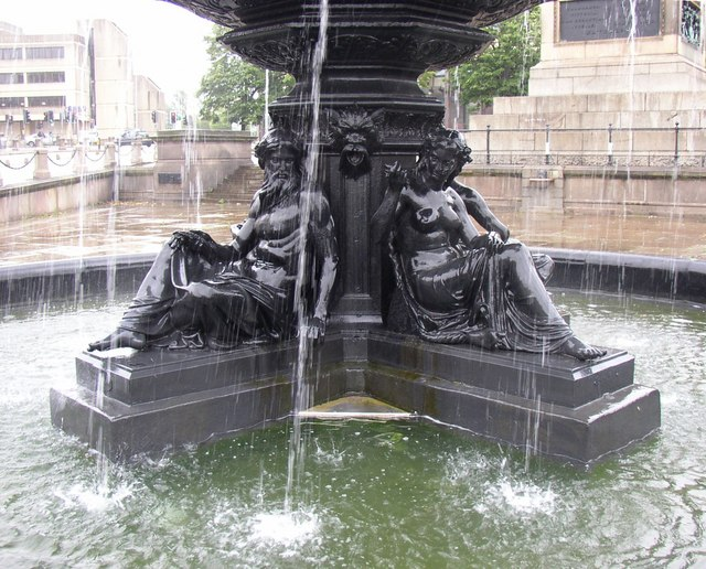 Detail of the Steble Fountain, William Brown Street, Liverpool
