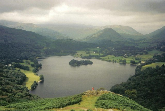 Looking down on Grasmere