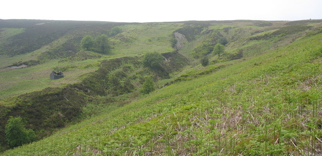 The incised valley at the head of Cwm Nant y Pandy