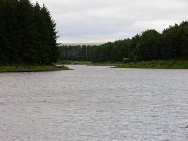 View down to east end of Turton and Entwistle Reservoir