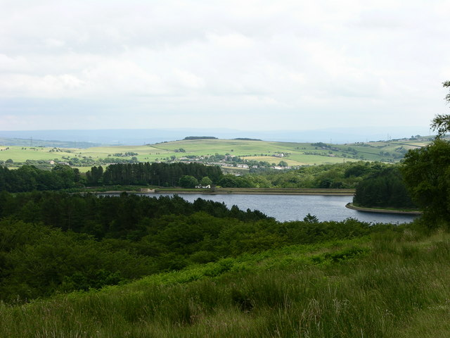 View South East towards Turton and Entwistle Reservoir