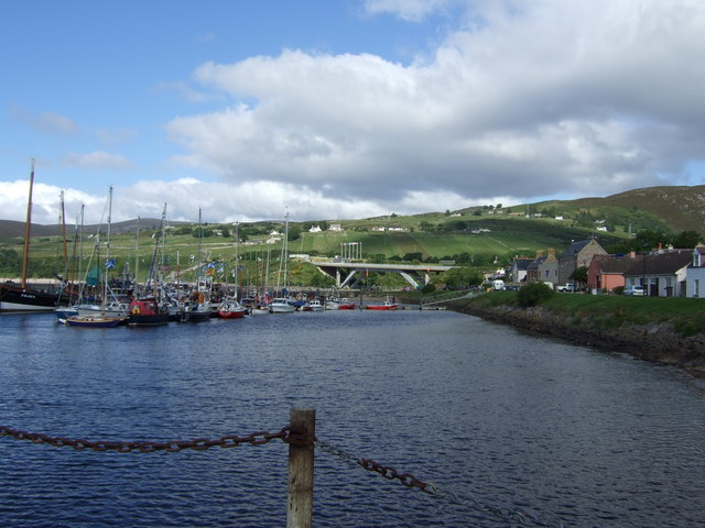 View of the A9 bridge through Helmsdale