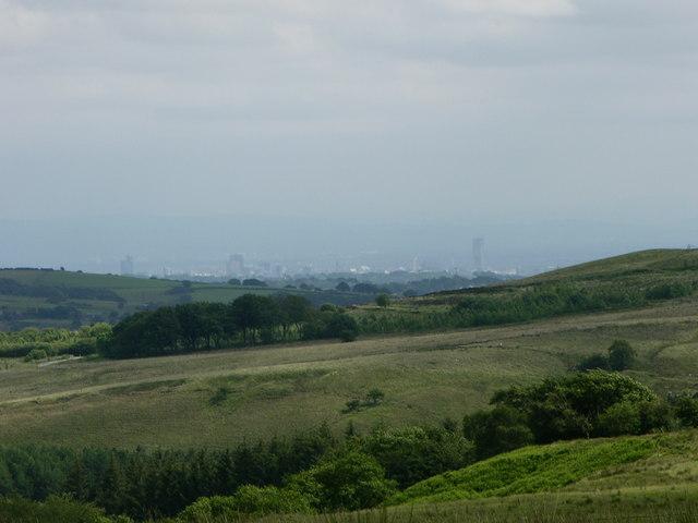 View towards Blackburn from Lowe Hill
