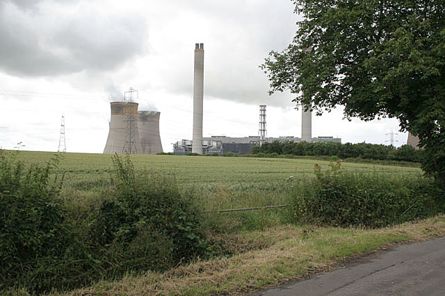 Near Mill House, looking towards West Burton Power Station