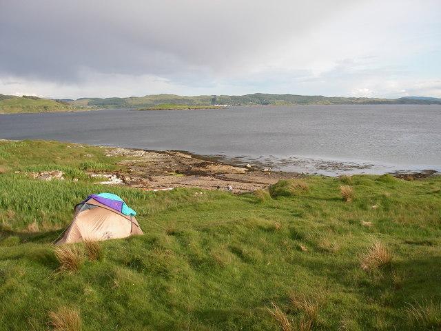 Beach on Degnish Point