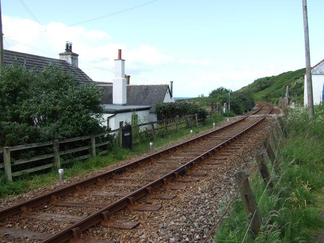Helmsdale to Brora railway near Portgower