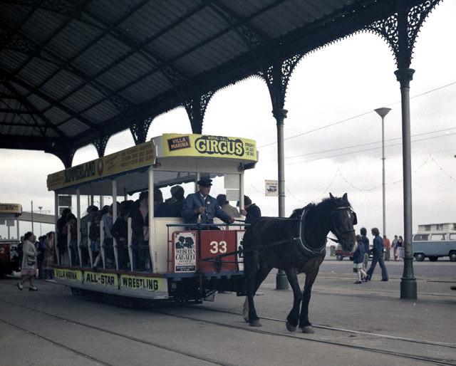 Horse tram terminus, Derby Castle, Douglas