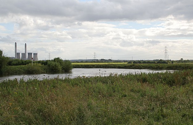 Sharp bend in the River Trent near Gainsborough