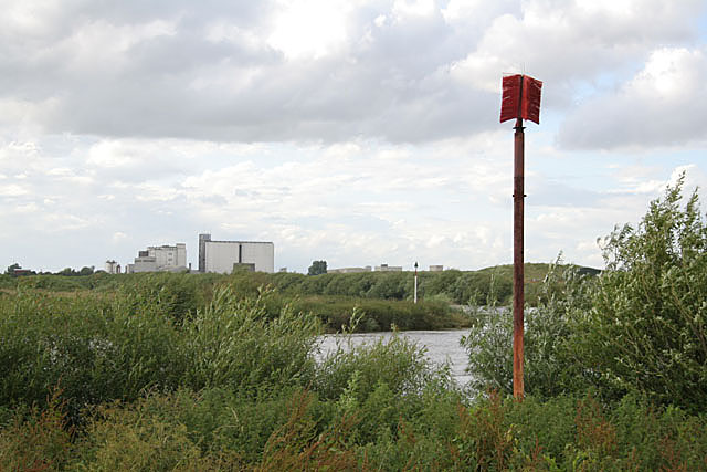 Navigation marks on the River Trent above Gainsborough