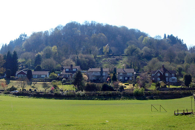 Houses overlooking Tintern Abbey