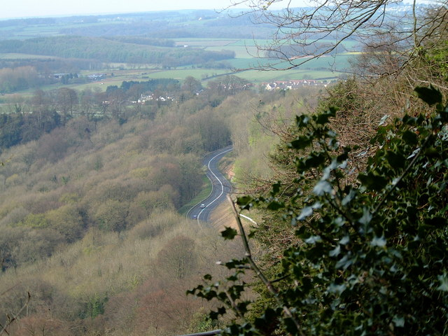The A466 from The Wyndcliffe