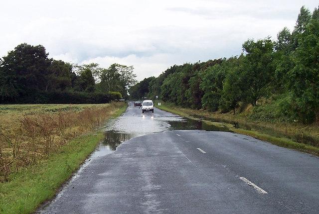 Road Flooded near College Farm