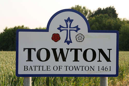 Towton signpost