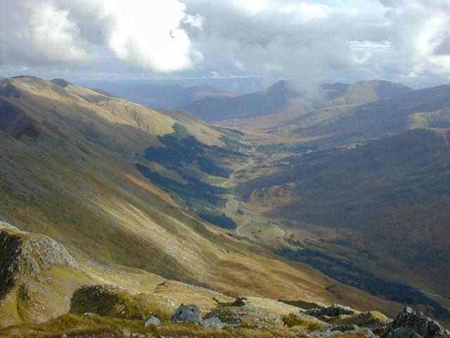 Upper Glen Shiel from Sgurr na Ciste Duibhe