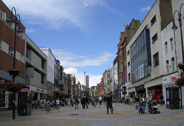 Briggate from Boar Lane