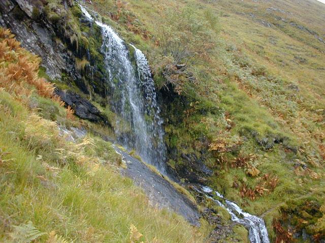 Waterfall en route to Bealach na Spainteach