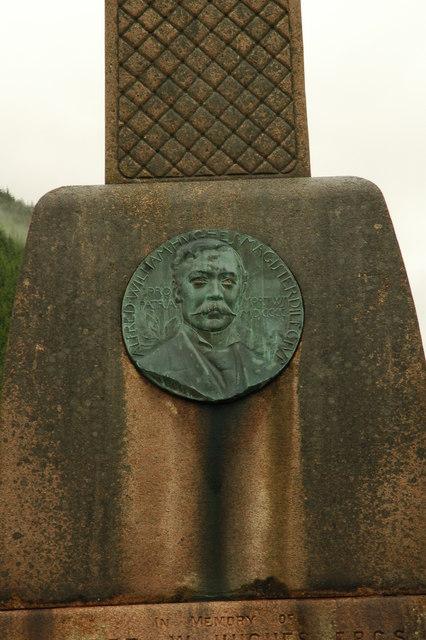 Memorial to A. W. Hughes- Corris